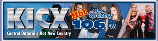 Central Ontario's Hot New Country, KICX 106
